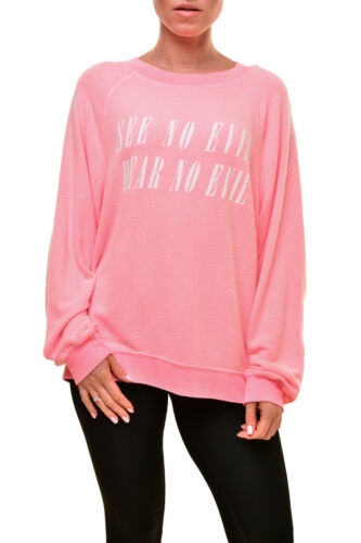 Wildfox 12t Evil Bcf89 Women's Pink £130 No Oversized Rrp Wvv542 Sweater Soft M 6nq6awYr