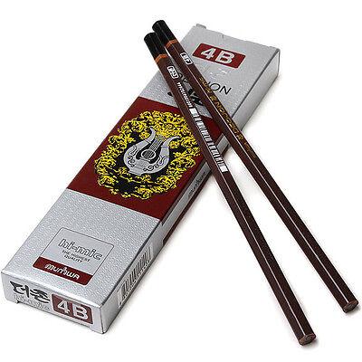 MUNHWA Deojon Pencils  Incense Wood 12 pcs 1 Dozen - 4B