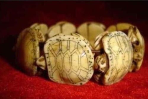 VINTAGE TIBET CARVED BLESS TURTLE BRACELET