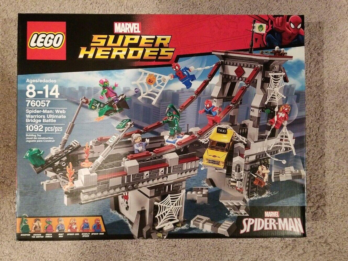LEGO Spider-Man 76057 Ultimate Bridge Battle, Marvel Superhero New Sealed