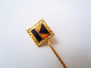 """SchöN Metall Brosche Anstecknadel """"k"""" Schwarz/gold 1,2 G/länge Ca Anstecknadeln Ab 1945 Sammeln & Seltenes 5 Cm"""