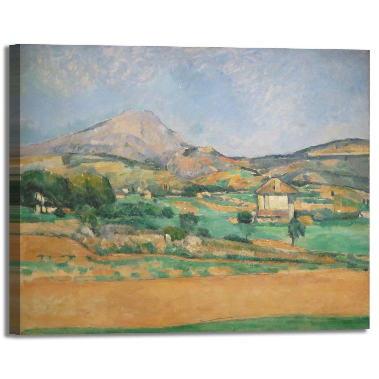 Cezanne pianura design quadro stampa tela dipinto con telaio arroto casa