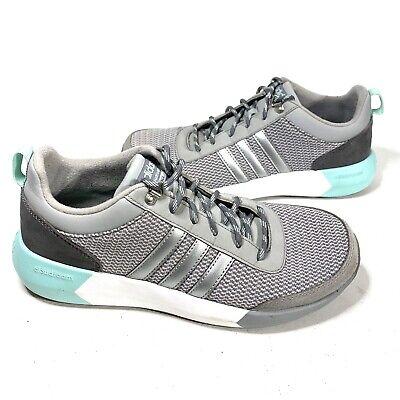 Adidas Cloudfoam Race Womens Running Shoes Size 8 Gray/Mint AW5170 | eBay
