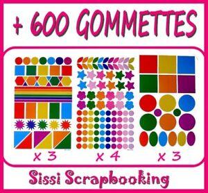 GROS-LOT-DE-600-GOMMETTES-AUTOCOLLANTES-SCRAPBOOKING