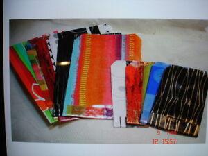 50 Geschenkflachbeutel Schmucktüten verschiedene Größen gemischte Muster NEU