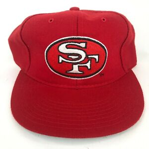 Vintage-San-Francisco-49ers-New-Era-Wool-Blend-Fitted-Hat-Red-NFL-Dead-Stock