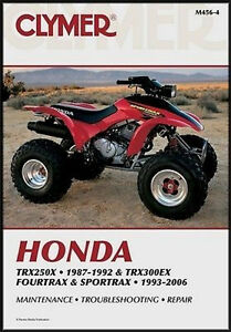 clymer service repair manual m456 4 honda trx300ex. Black Bedroom Furniture Sets. Home Design Ideas