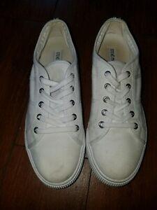 Steve-Madden-EMMI-Platform-fashion-Sneakers-white-canvas-sz-10