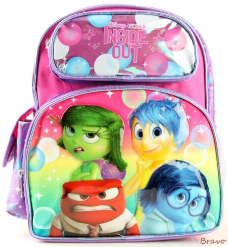 """Brand New Disney Pixar Inside out 12/"""" Small Size Girls School Backpack for Kids!"""