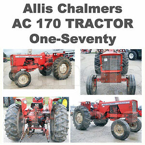 Allis-Chalmers-170-ONE-SEVENTY-Tractor-REPAIR-Shop-amp-INSTRUCTION-2-MANUALS-CD