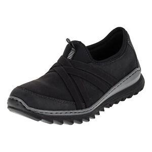 Details zu Rieker Damen Sneaker M6283 00 Schlupfschuhe Sportschuhe Slipper Memo Fußbett