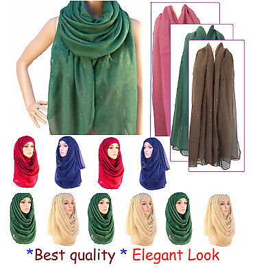 Excellent Shimmer Maxi Large Scarf Wrap Shawl Hijab Sarong  Pretty color*GltrScr
