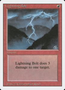Revised MTG Excellent// NM 4RCards 4 Lightning Bolt X
