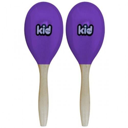 Kid - 2 Maracas en bois - 19cm - Violet - + 4 ans