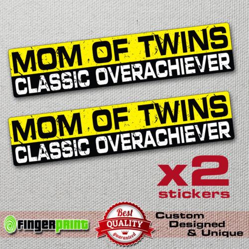 MOM OF TWINS ACHIEVER sticker decal funny bumper KIDS car truck TAILGATER honda
