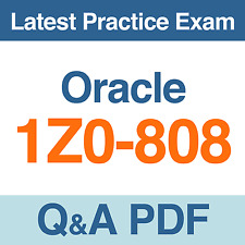 Oracle Java SE 8 Programmer I Practice Test 1Z0-808 Exam Q&A PDF