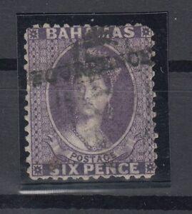 C2661-BRITISH-BAHAMAS-VICTORIA-SG-45-USED-CERTIFICATE-CV-495