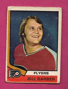 1974-75-OPC-8-FLYERS-BILL-BARBER-2ND-YEAR-GOOD-CARD-INV-A7174