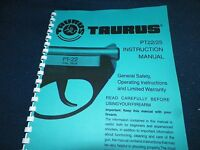 Taurus, Pt22/25, Automatic Pistol Manual, 36 Pages