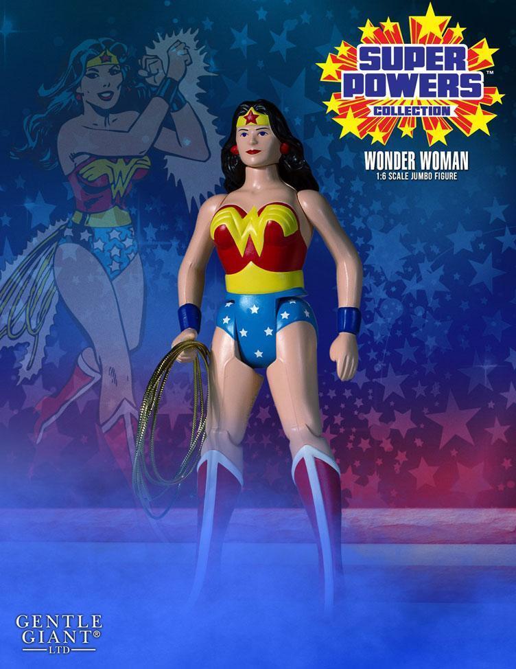 DC Gentle Giant Super Powers Vintage  Jumbo Wonder femme Action Figure  haute qualité