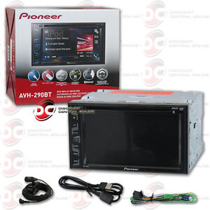 pioneer avh 290bt car double din 6 2 touchscreen usb dvd. Black Bedroom Furniture Sets. Home Design Ideas