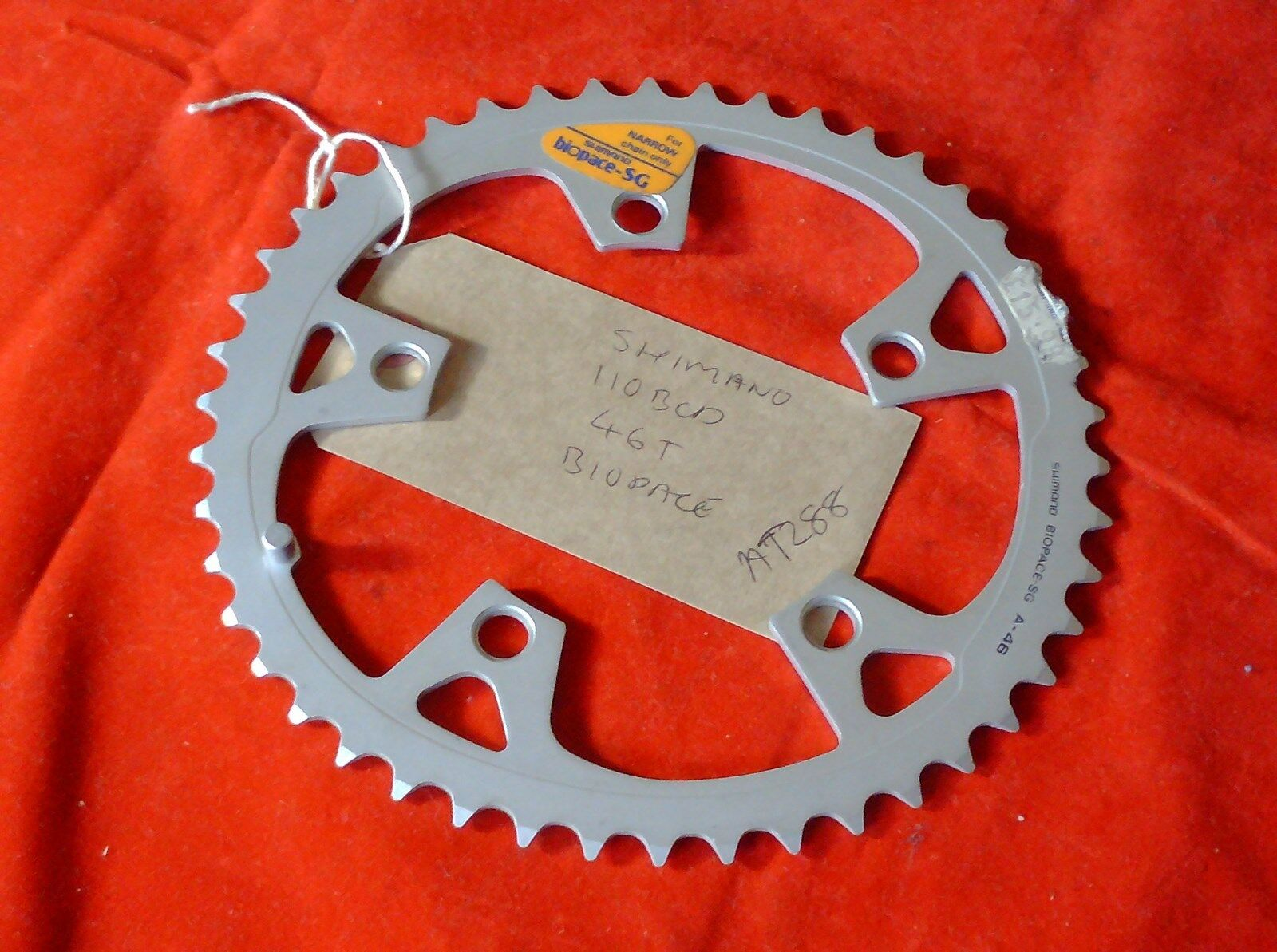 NOS 46 TOOTH SHIMANO BIOPACE  110BCD ALLOY CHAINRING