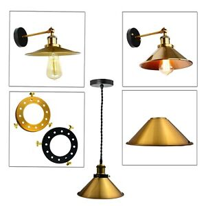Retro-Iron-Lampshade-Industrial-Sconce-Up-Down-Wall-Light-Loft-Edison-Lamp-UK