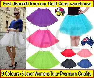 Womens-Adults-Ladies-Ballet-Costume-Party-Hens-Night-80s-Dance-Tutu-Skirt