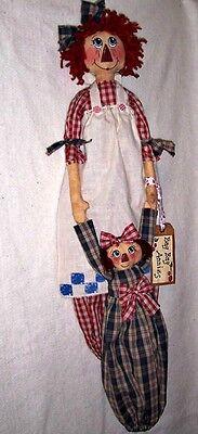 Primitive North Woods Moose Cloth Doll Pattern Marcella Moose Grocery Bag Holder