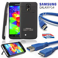 High Capacity Battery Charging Case For Samsung Galaxy S5 Hi-Speed Micro USB 3.0