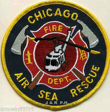 """Airport - Chicago  Air - Sea Rescue, IL  (4"""" round size) fire patch"""