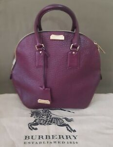 BURBERRY Orchard Leather Satchel Bag