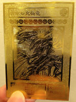 Blue-eyes Ultimate Dragon Yugioh Custom Limited Collection Golden Metal Cards