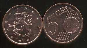FINLANDE-5-cents-2002-SPL-neuve-sortie-du-rouleau