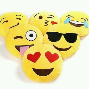 Details about Emoji Plush Pillows