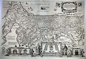 Antique-map-Viertzig-Iarige-reysen-der-kinder-Israel-aus-Egypten