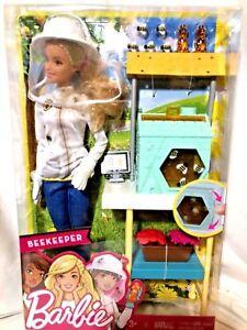 New Beekeeper Career Barbie Doll Playset Bee Keeper