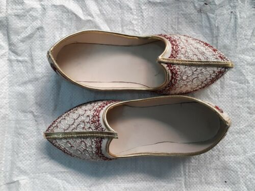 Size 12 #025 Indian Rajasthani Punjabi Ethnic Wedding Mens Jutti Mojari Shoes