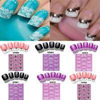Chic 3D Transfer Lace Design Nail Art Stickers Manicure Nail Polish Decals Tips