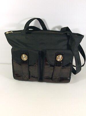 Gianni Versace Black Patent Leather Bag  9ca941d50aa5e
