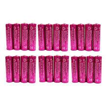 24 pc AA 900mAh Ni-Cd  Ni-Cad 1.2V Rechargeable Battery RC Solar Purple US Stock