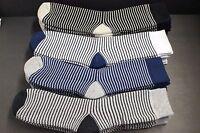 4 Pair Men's / Women's Crew Boots Socks 9-11 Medium Thick Shoe 6-11 Gray Stripe