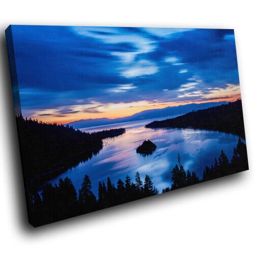 SC377 bleu orange noir nature paysage Toile Wall Art Photos Grand Imprime
