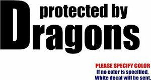 """PROTECTED BY THE MAFIA Decal Sticker JDM Funny Vinyl Car Window Bumper Truck 7/"""""""