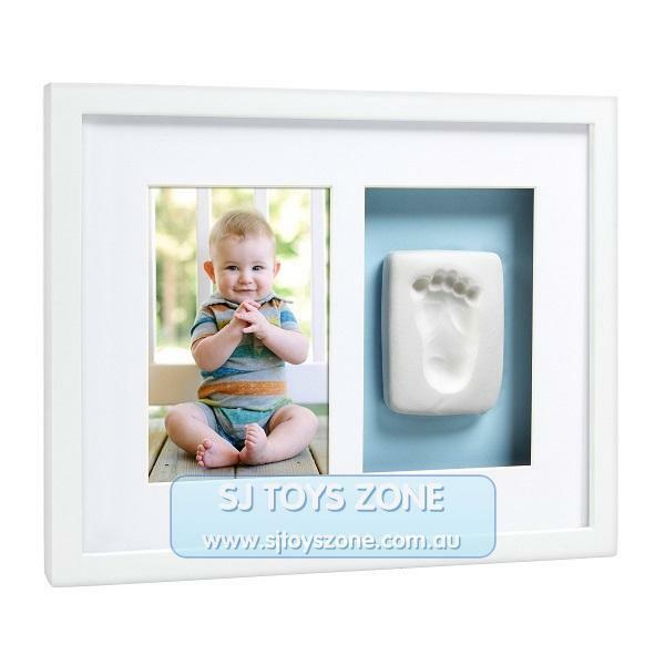 Pearhead Babyprints Newborn Baby Handprint or Footprint Wall Frame - Blue or Pin