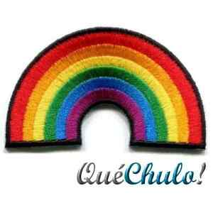 PARCHE-TEXTIL-BORDADO-ARCOIRIS-MULTICOLOR-ORGULLO-GAY-PATCH-RAINBOW-GAY-PRIDE