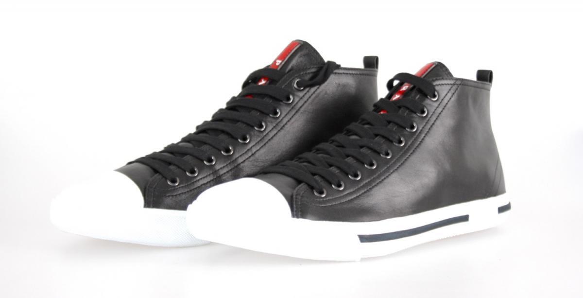 shoes PRADA LUXUEUX 4T2583 black NOUVEAUX 10 44 44,5