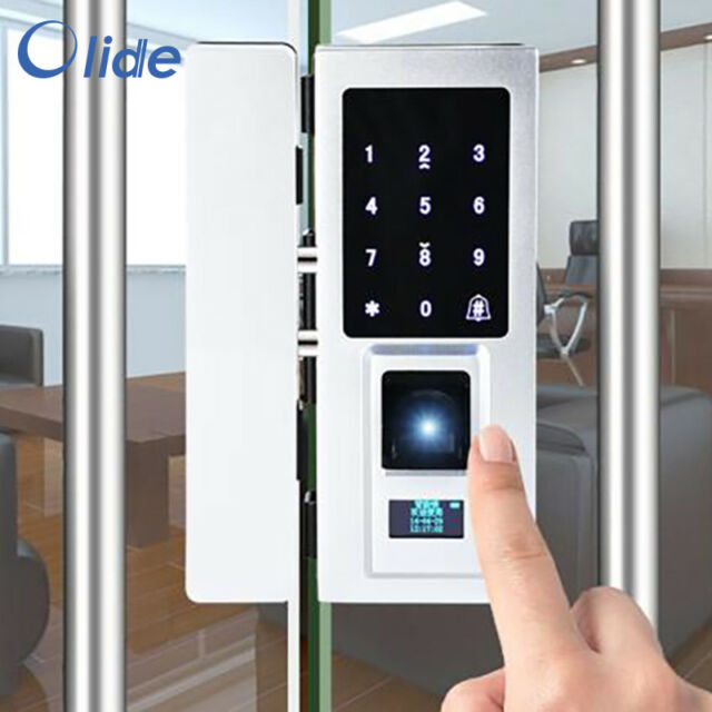 Olide Sd45 Glass Frame Door Gate Lock Fingerprint Keypad Rfid Card