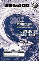 Sea-doo 150 Speedster, 200 Challenger, 2007 Owners Manual Paperback