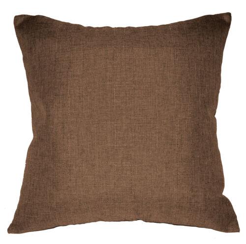 Qh20a Light Brown Linen Cotton Blend Style Cushion Cover//Pillow Case Custom Size
